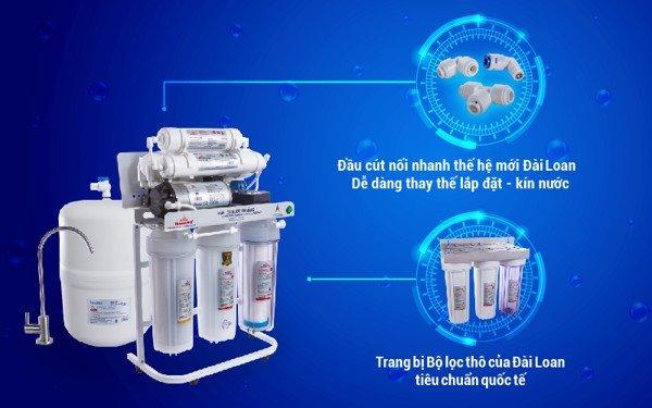 Lắp đặt máy lọc nước không vỏ tủ