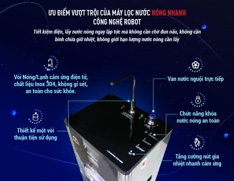 máy lọc nước nóng lạnh 739GK-UR nóng nhanh